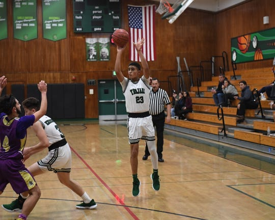 Alisal guard Josue Gil-Silva (23) was one of two Trojan seniors named to the All-Star Classic later this month.