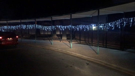 A Christmas light and radio presentation is being put on by Glenn Middle School, 2201 University Ave., until Christmas night.