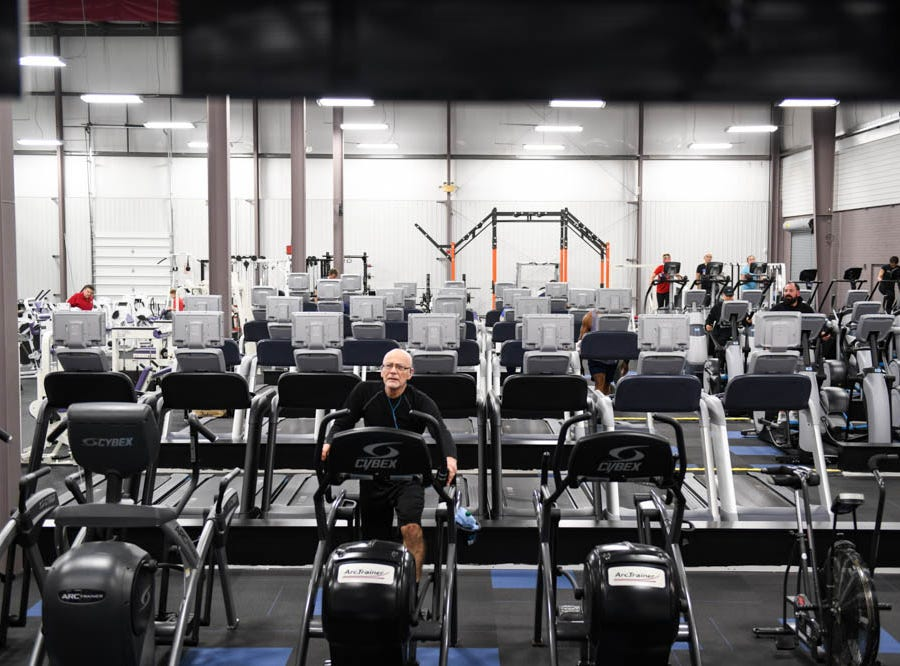Pure fitness is recently open as the newest gym in Salisbury on Thursday, Dec 20, 2018.