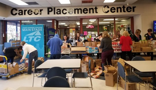 The LTC Foundation provided 150 grocery gift bags for students.