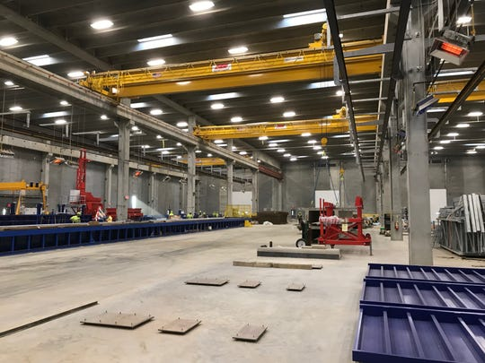 The factory floor inside Gage Brothers' new $40 million, state-of-the-art manufacturing plant in northeast Sioux Falls.