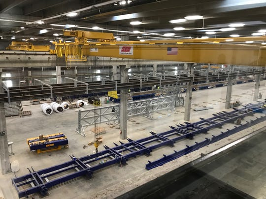 A look over the factory floor inside Gage Brothers' new $40 million, state-of-the-art manufacturing plant in northeast Sioux Falls.