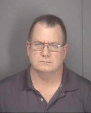 Former Augusta County Supervisor Terry Kelley in a booking photo. He faces charges of credit card fraud.