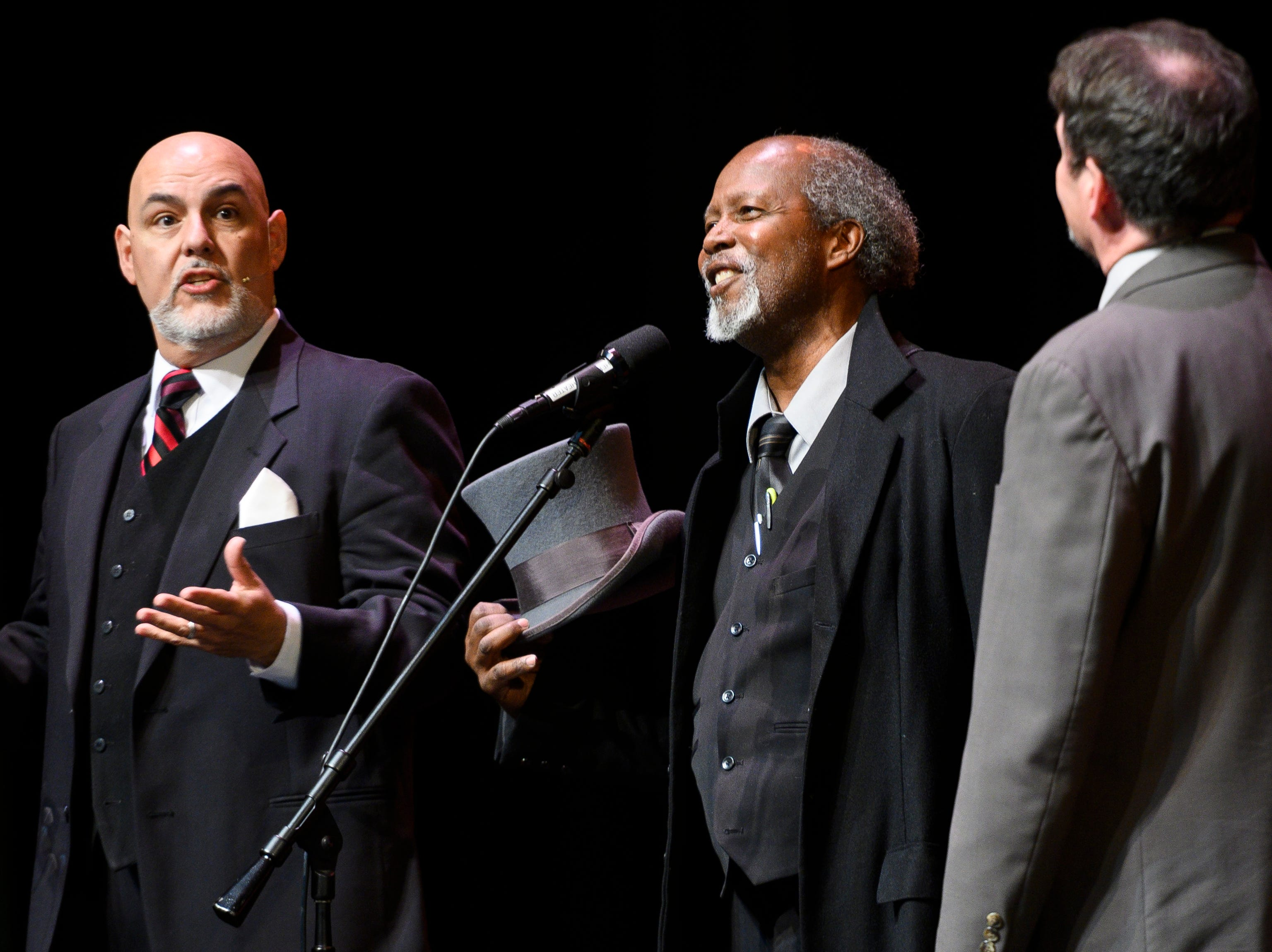 The Neil Simon Festival presents A Christmas Carol on the Air in the Heritage Center Theater Thursday, December 20 2018. Clarence Gilyard, known for his roles in Walker, Texas Ranger, Matlock, and Top Gun, plays Ebenezer Scrooge. The show has performances Friday and Saturday nights at 7:30 p.m. and tickets are $15 and can be bought at the door.