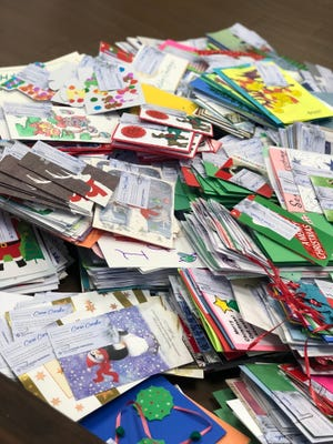 Over 1,400 care cards were collected through Operation Care Cards at Tallahassee Memorial HealthCare during a previous drive.