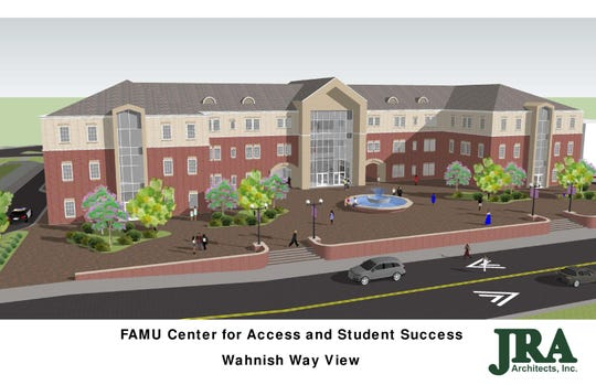 A rendering of the Center for Access and Student Success under construction at Florida A&M University.