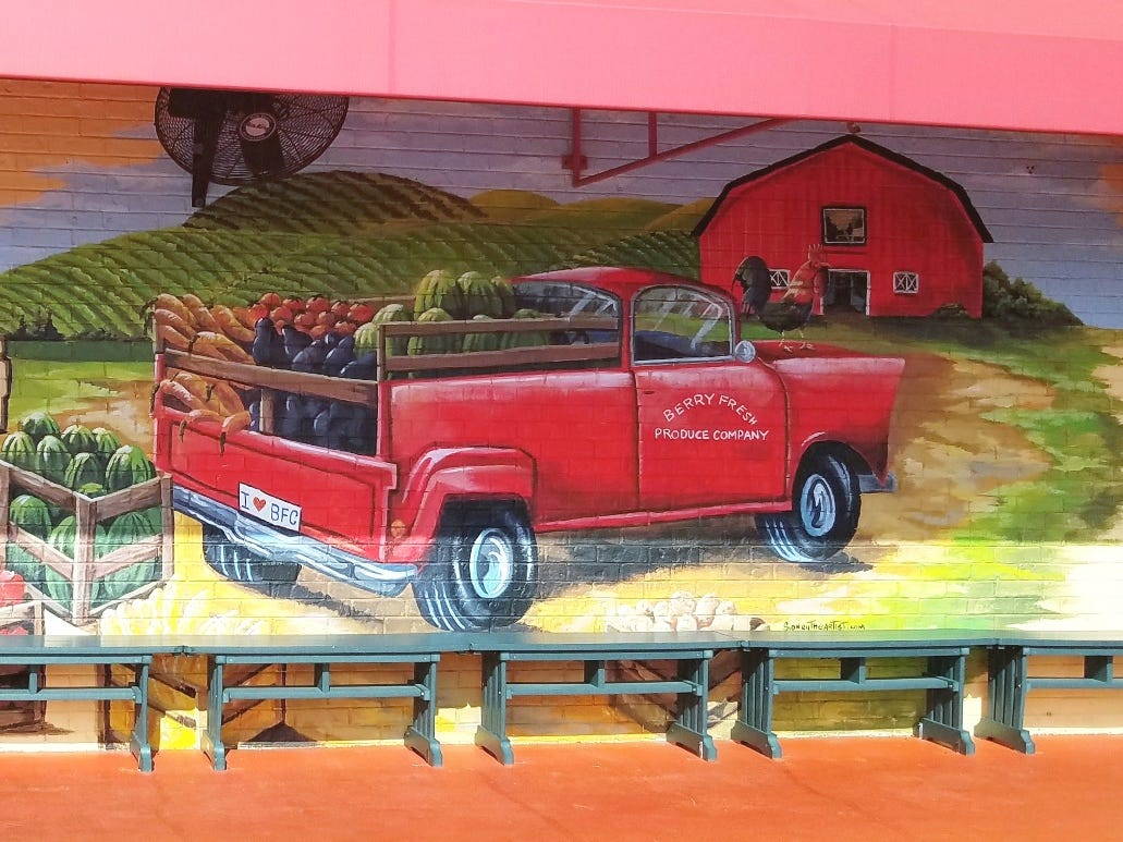 Mural at Berry Fresh Cafe at  1429 S.E. Federal Hwy. in Stuart.