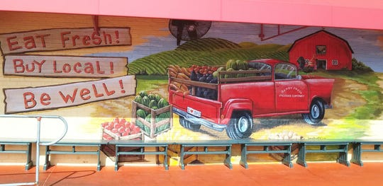Mural at Berry Fresh Cafe at  1429 S.E. Federal Hwy. inStuart.