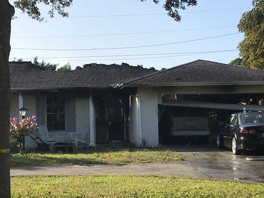 A house on Country Club Drive in Tequesta caught fire overnight Thursday, Dec. 20, 2018.