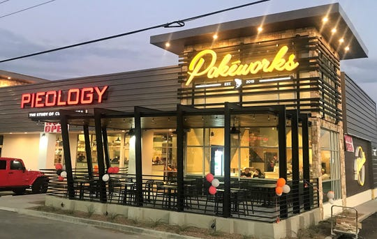 The new Pieology Pizzeria and Pokéworks fast-food restaurants at 1318 George Dieter Drive in East El Paso.