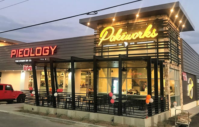 The new Pieology Pizzeria and Pokéworks fast-food restaurants at1318 George Dieter Drive in East El Paso.