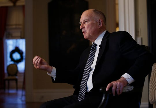 In this Dec. 18 photo, California Gov. Jerry Brown discusses his time in the state's highest office during an interview with The Associated Press in Sacramento. Brown, a Democrat, will leave office Jan. 7 after serving a record four terms.