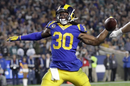 Running back Todd Gurley is one of only four players on the roster picked by the Rams in the first round.