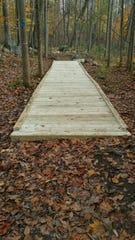Grady's bridge Fifty-foot boardwalk built in Franklin D. Roosevelt Park by Eagle Scout Arjay Mirchandani.