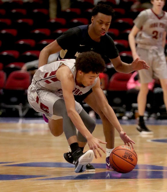 Iona Prep freshman Isaac Gonzalez, pictured during the Slam Dunk Tournament at the County Center, scored 12 points in a playoff loss to Cardinal Hayes at Mount St. Michael.