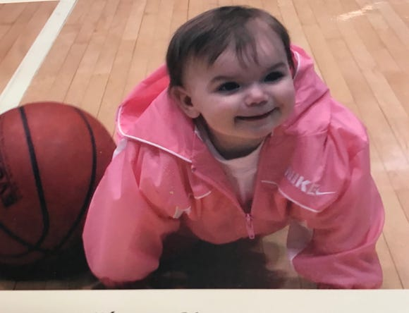 Briarcliff's Kacey Hamlin was crawling on the Westchester County Center floor as an infant.