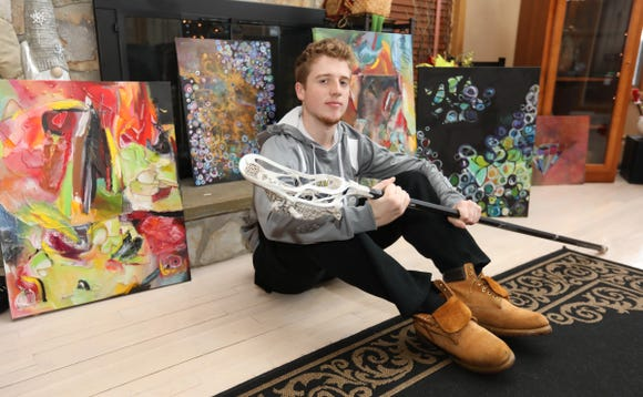 Clarkstown South's Luke Samuels, the Rockland Scholar athlete of the week, photographed at his New City home on Friday, December 21, 2018.