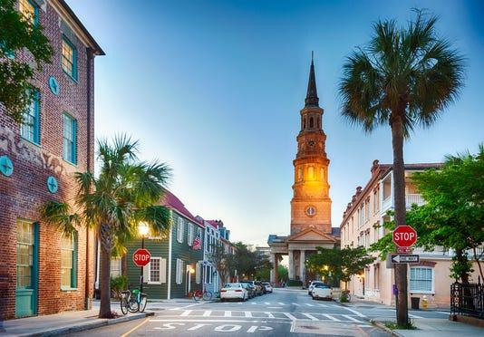 Charleston South Carolina In The Evening