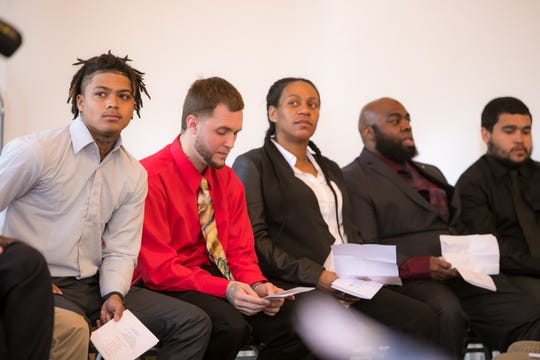 Project New Start, a re-entry program for New Castle County residents who spent time in prison, hold a graduation ceremony at Widener University Delaware Law School.