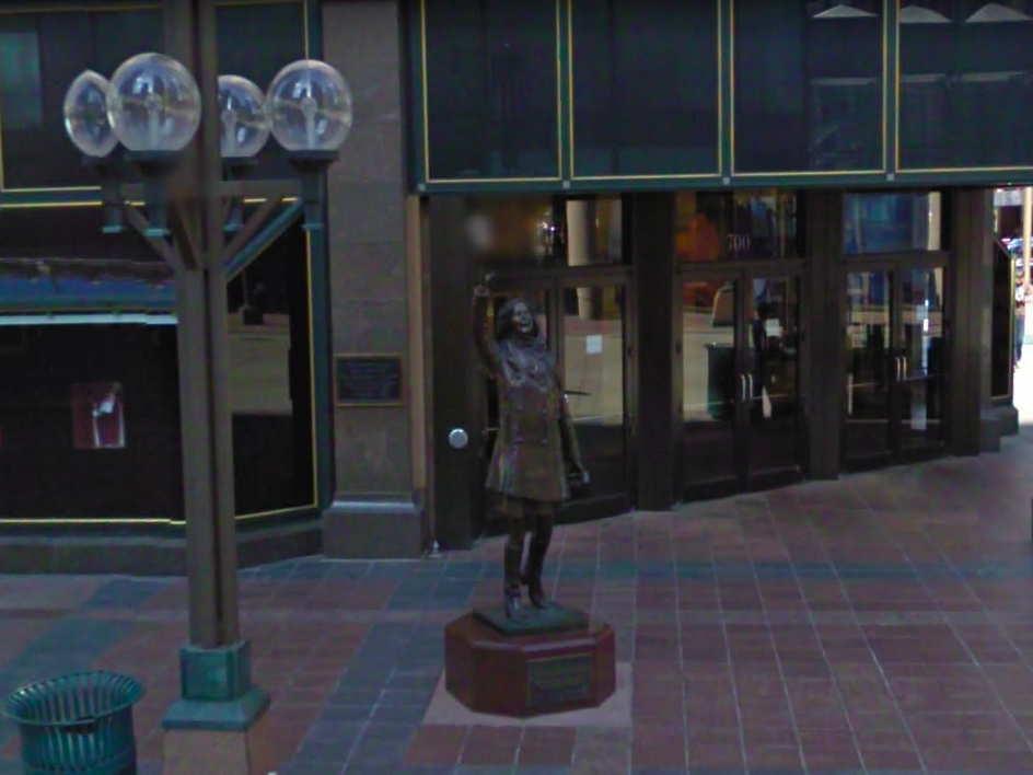 Minnesota: This Mary Tyler Moore statue in Minneapolis stands in the same spot where she threw her hat up in the air in the opening credits of the eponymous TV show.