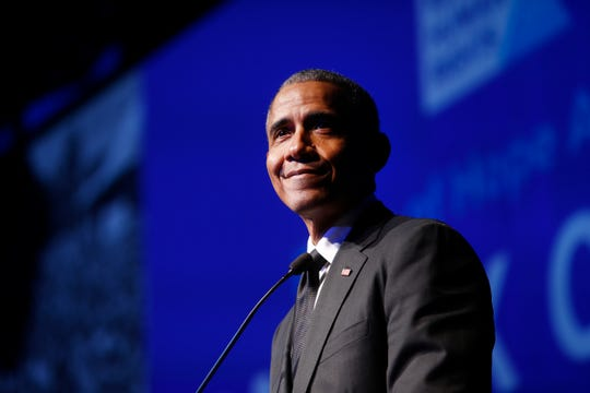 "Former President Barack Obama appears on a reworked song by Lin-Manuel Miranda originally from the Broadway hit ""Hamilton."""