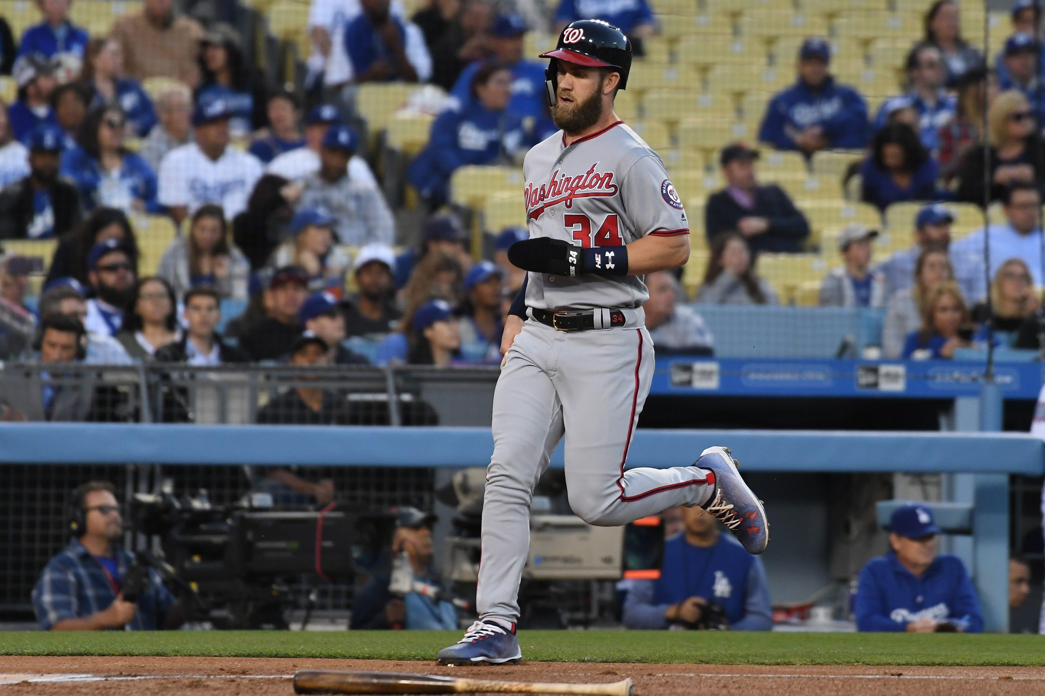 Mlb Washington Nationals At Los Angeles Dodgers
