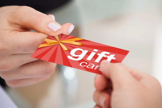 Gift cards are a great quick gift to pick up when you're at the gas station.