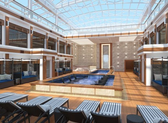 The Haven suite area on Norwegian Encore will have its own private pool and lounge area.