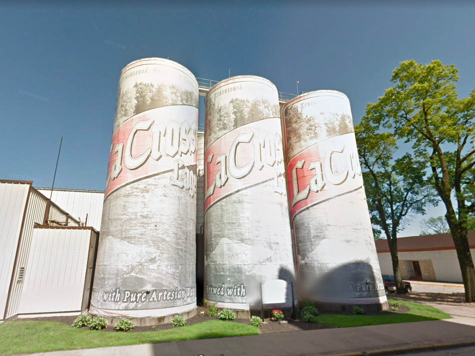 Wisconsin: This enormous six-pack is the perfect landmark for the City Brewing Company in La Crosse.