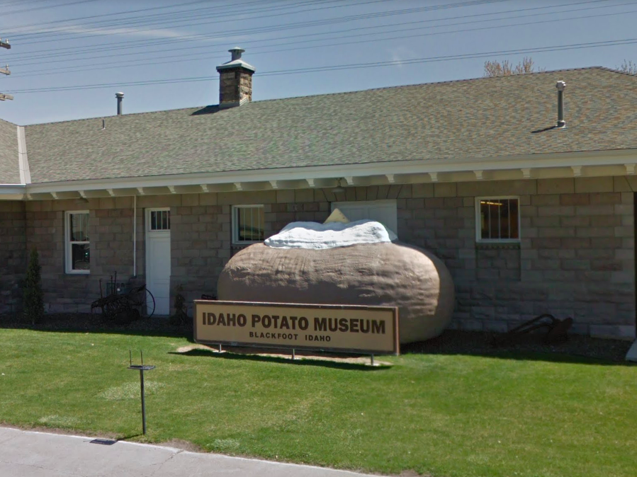 Idaho: While driving through Blackfoot, road-trippers can stop by the Idaho Potato Museum, where you'll find this gargantuan and photogenic potato sculpture.