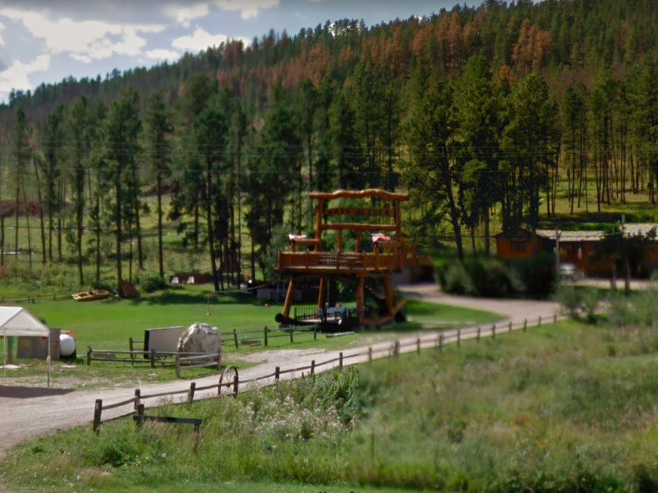 South Dakota: This big chair in Deadwood, off of Route 385, is an awesome roadside attraction, even serving as the landmark for the local eatery out front.