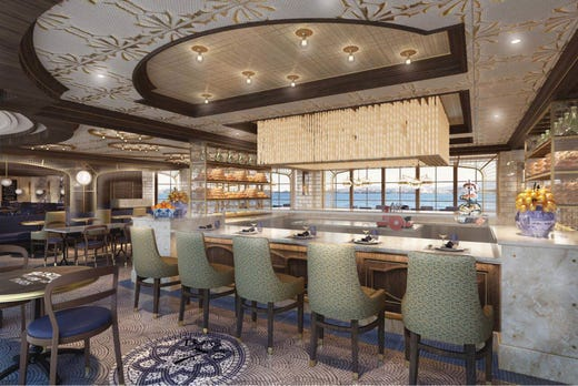 New on Sky Princess will be La Mer, which will offer casual French bistro-style dining with a modern twist. It's the creation of Emmanuel Renaut, whose Flocons de Sel restaurant has received three Michelin stars.