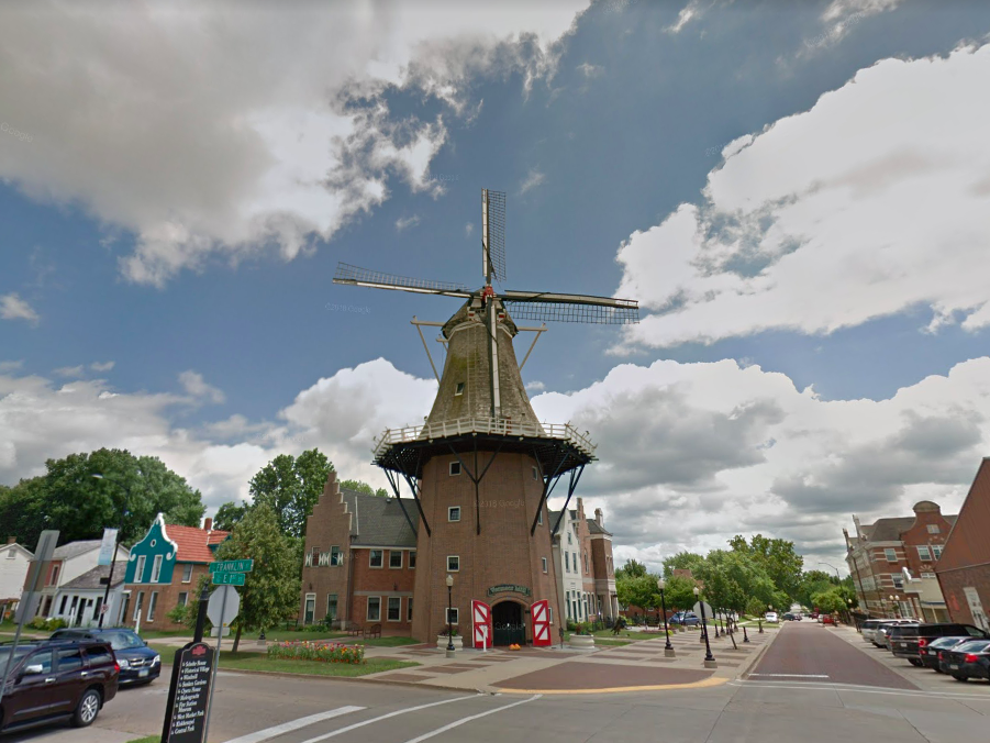 """Iowa: Travelers can cross """"seeing North America's tallest working windmill"""" off their bucket list once they make a stop at the Vermeer Mill in Pella."""