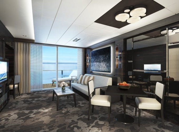 Norwegian Encore will be home to a sprawling Family Villa, located in the ship's Haven suite area.