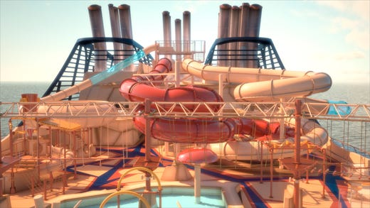 Other deck-top amusements on MSC Bellissima will include the Western-themed Arizona Aquapark.