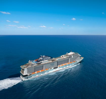 MSC Cruises in 2019 also will unveil a sister to its recently launched MSC Meraviglia to be called MSC Bellissima. Shown here in an artist's drawing, it will be capable of holding more than 5,700 passengers.