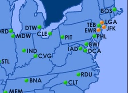 Map Of New York City Airports.Christmas Travel United Jetblue Waive Nyc Change Fees Amid Storm