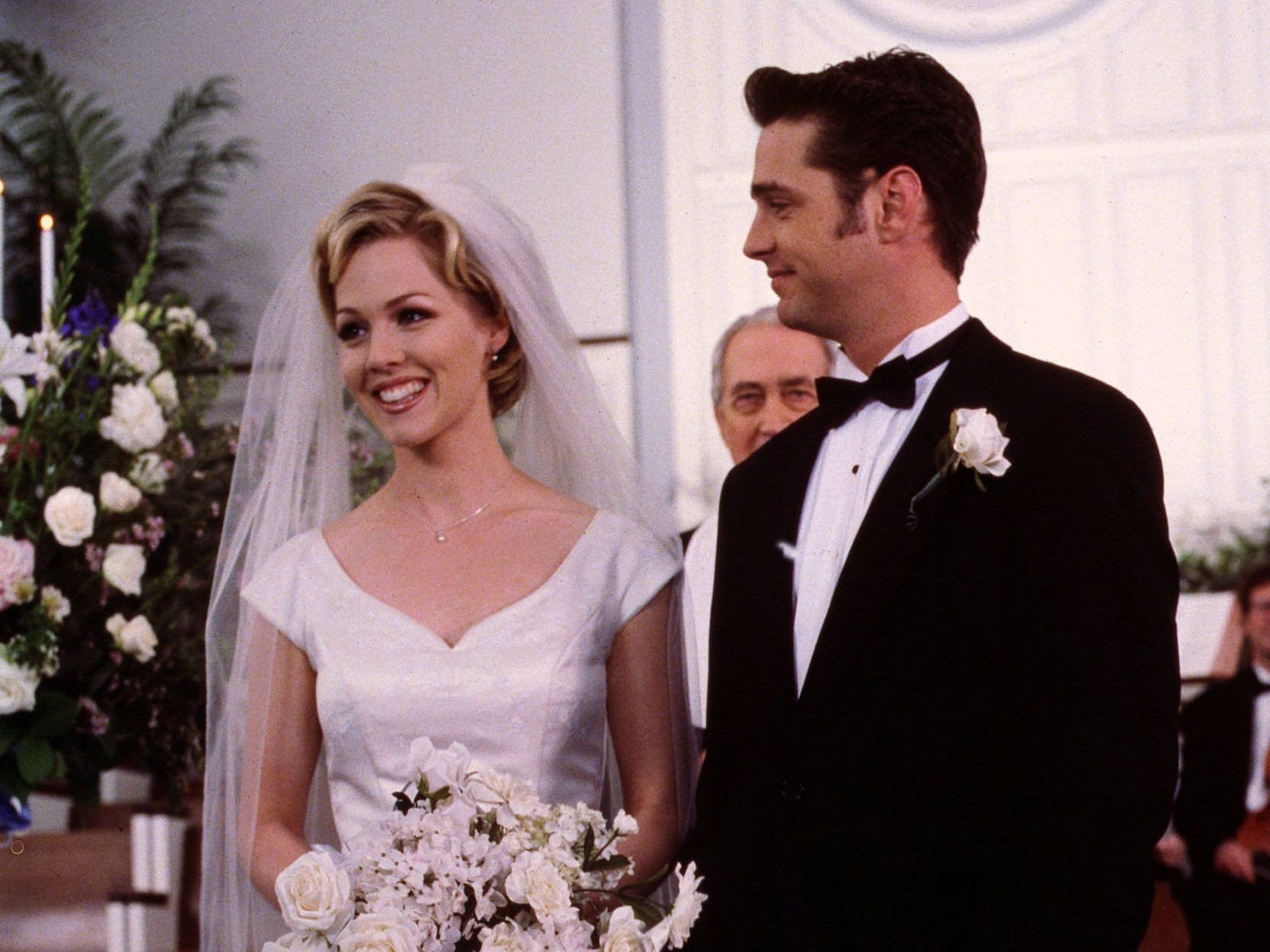 Brandon's most serious relationship was with his sister's friend, Kelly Taylor (Jenni Garth), though the two stopped just shy of the altar. Priestley left the show in Season 9 and Brandon as written out as traveling the world for work. He did return as a guest-star capacity. however.