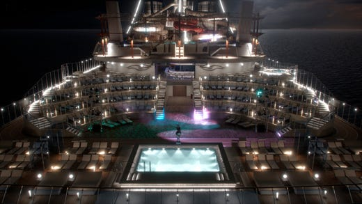 The Horizon Pool and Amphitheater is another outdoor venue planned for MSC Bellissima.