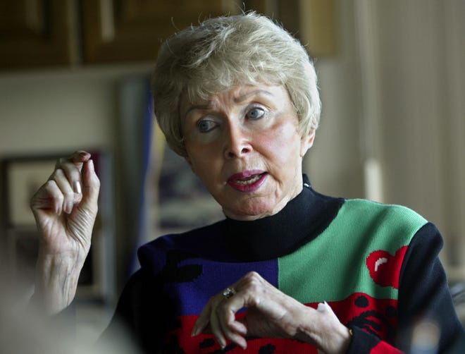 Audrey Geisel, widow of Dr. Seuss author Theodor Geisel, talks about Dr. Seuss Enterprises at her home on Feb. 4, 2004.
