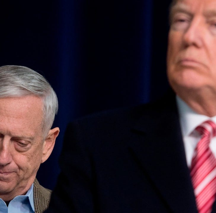 Defense Secretary Jim Mattis cited policy differences with President Donald Trump when turning in his resignation.