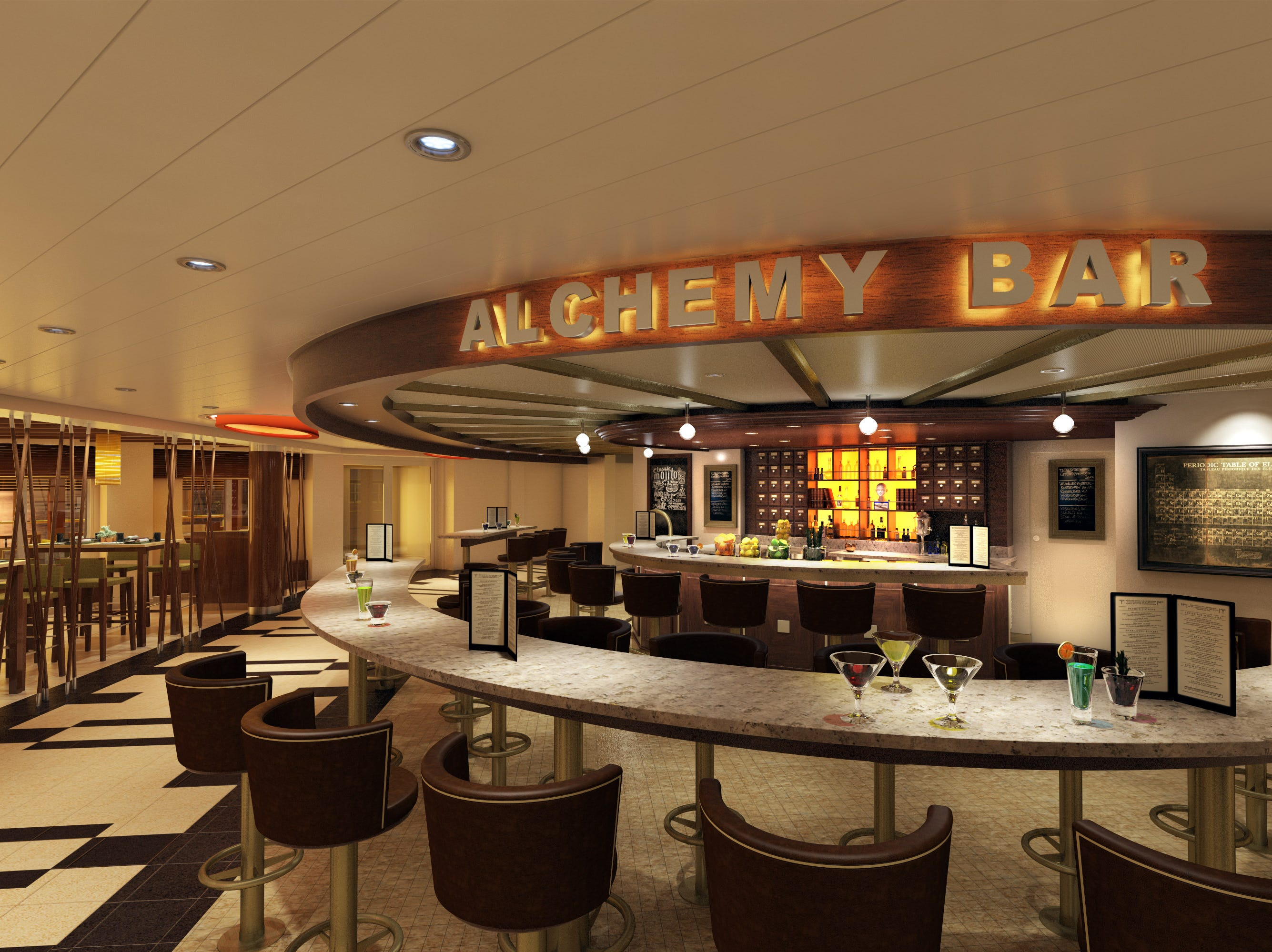 The Alchemy Bar, a staple of ships in the Carnival fleet, will be back on Carnival Panorama.