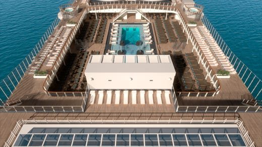The main pool area on MSC Bellissima will be called the Atmosphere Pool.