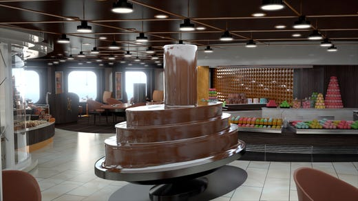 MSC Bellissima will feature the Jean-Philippe Chocolat & Café, a venue that revolves around chocolate.