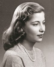 A portrait of Ruth Bader as a Cornell University senior in the early 1950s.