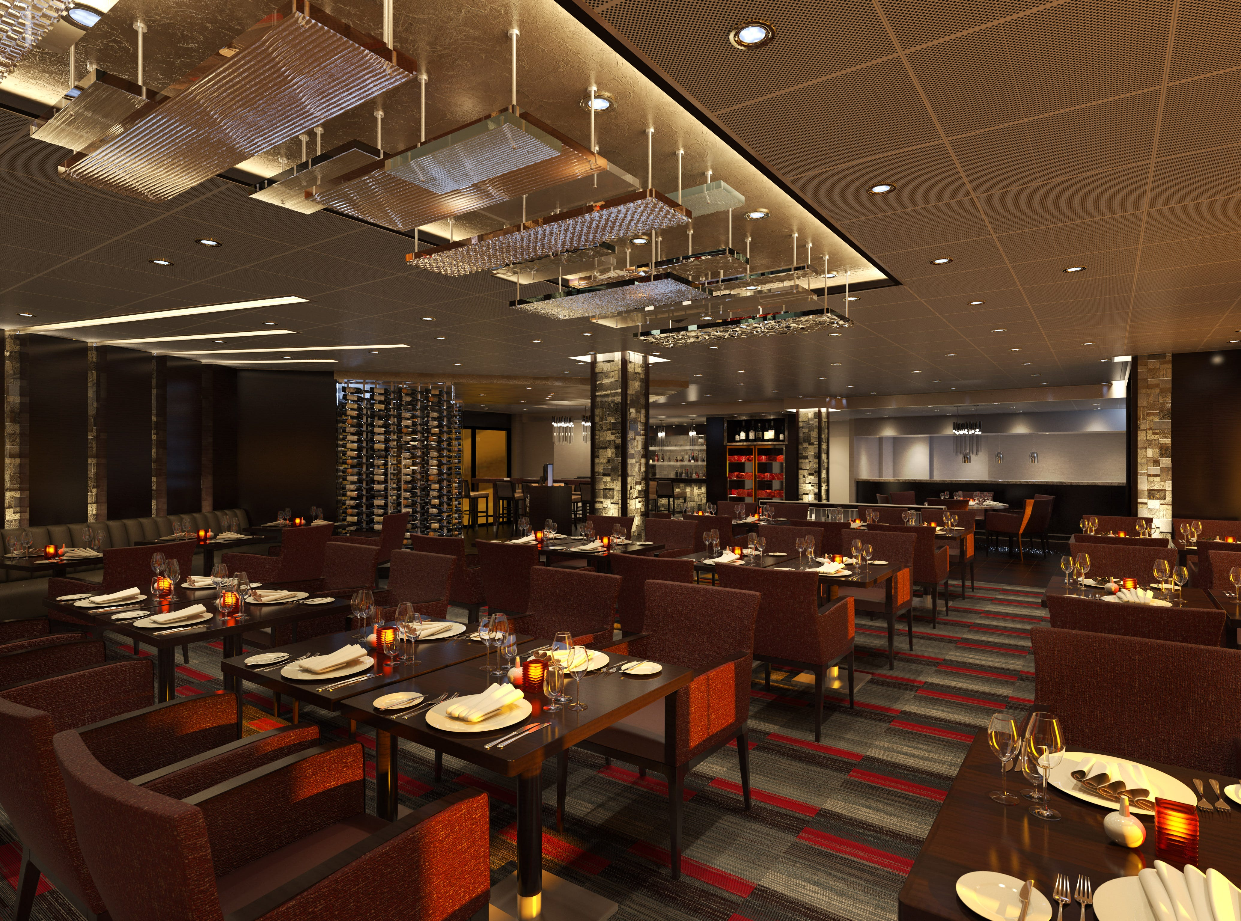 Carnival Panorama will feature a Fahrenheit 555 steakhouse similar to the one on the line's recently unveiled Carnival Horizon.