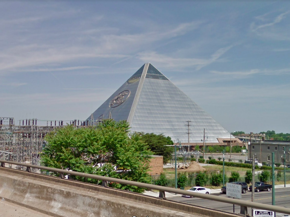 Tennessee: Visible from I-40, the Memphis Pyramid has been around since 1991 and is now home to a Bass Pro Shop.