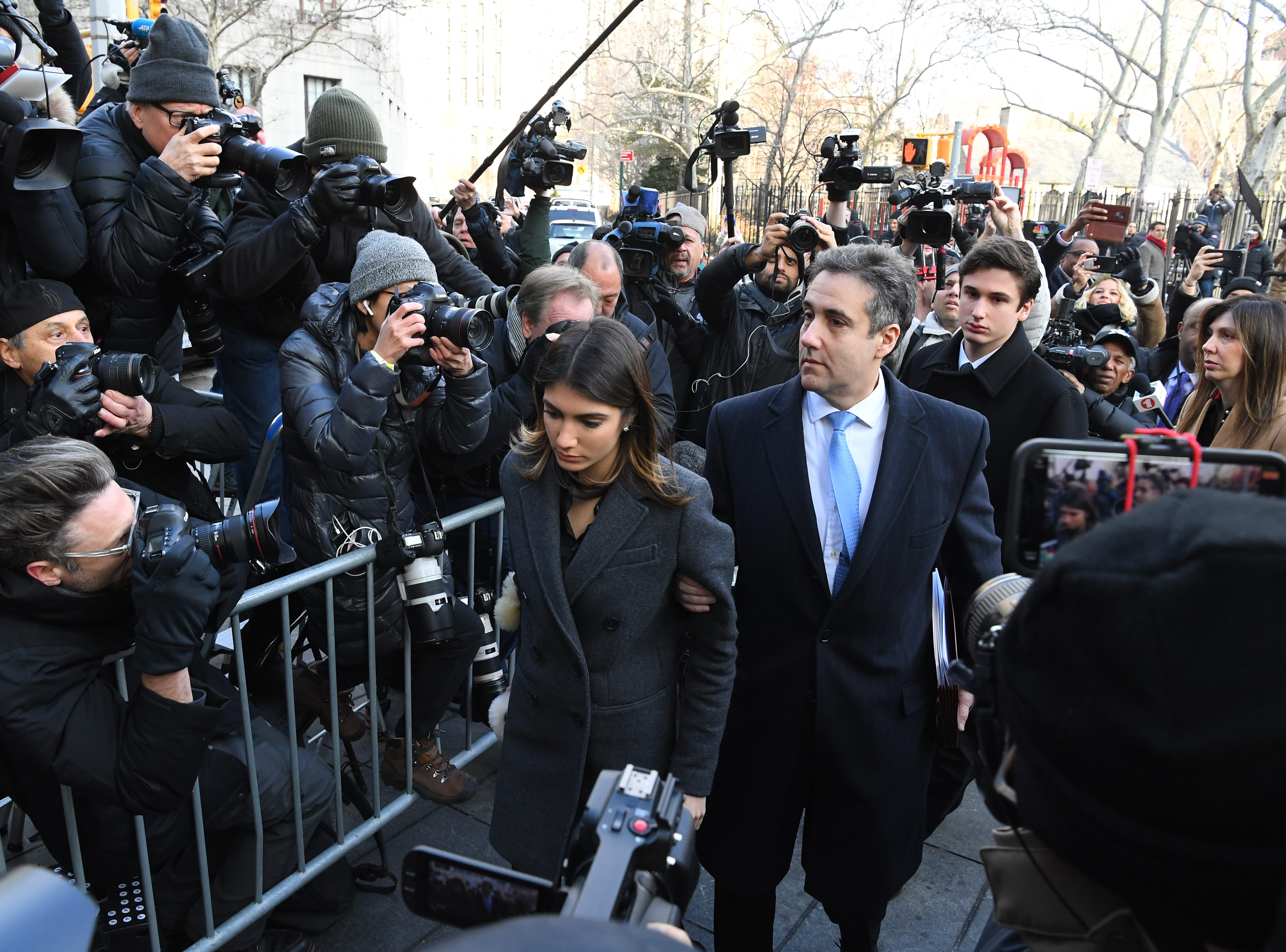 Dec. 12, 2018: Michael Cohen arrives at the Moynahan Federal Courthouse in New York City for sentencing for dodging taxes, lying to Congress and violating campaign finance laws.