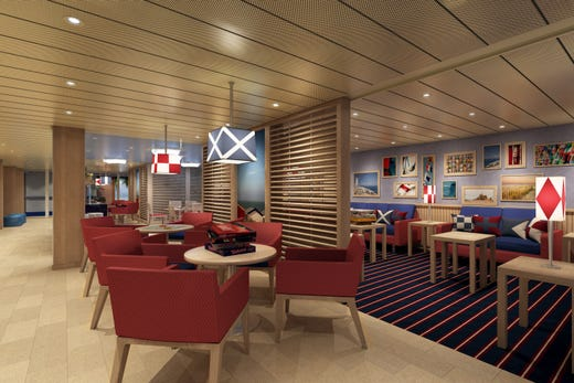 The Family Lounge on Carnival Panorama.