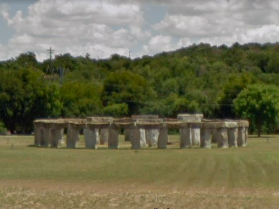 Texas: Driving through the Hill Country, sightseers may be surprised to spot this unique rock formation. It is an artist-created replica of the famous Stonehenge monument in England.